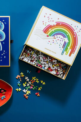 Puzzle Rainbow Hand Shaped