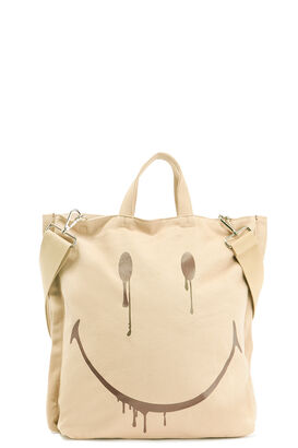 Canvas-Shopper mit Smiley Motiv