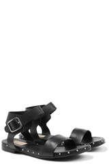 Leder-Sandale mit Nietenbesatz - AGL