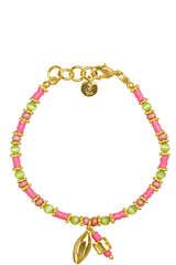 Armband Lola mit Neongrünen Glassteinen  - SARA LASHAY