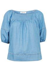 Bluse aus Baumwoll-Blend - FLOWERS FOR FRIENDS