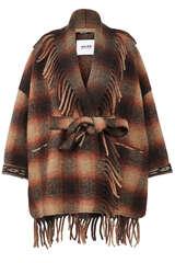Jacke im Poncho-Stil mit Wolle  - BAZAR DELUXE