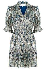 Chiffon-Kleid mit Lurex-Details - BA&SH