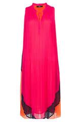 Plissee-Kleid im Color Blocking Style - STEFFEN SCHRAUT