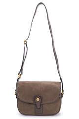 Crossbody Bag mit Veloursleder - GIANNI CHIARINI