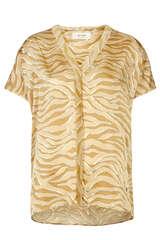 Viskose Bluse mit Animal-Print - MOS MOSH