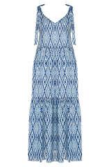 Maxi-Kleid aus Viskose-Chiffon - SET