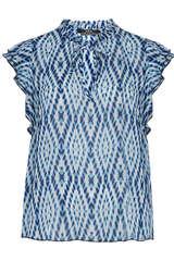 Ärmellose Bluse aus Viskose - SET