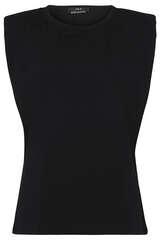 Ärmelloses Shirt mit Schulterpolstern - SET