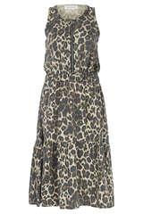 Ärmelloses Kleid mit Leo-Print - SOFIE SCHNOOR