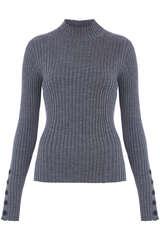 Pullover aus Wolle mit Rippstruktur - BLOOM