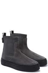 Sneaker Boots aus Veloursleder - AGL