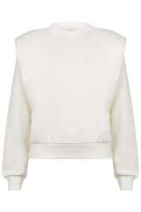 Statement-Sweatshirt mit gepolsterten Schultern - LES COYOTES DE PARIS