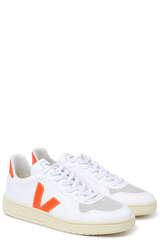 Sneaker V-10 White Orange Fluo - VEJA