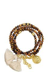 Armband Grace mit Ananas-Anhänger und Quasten-Detail - SARA LASHAY