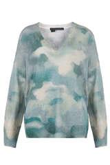 Pullover aus Cashmere in Batik-Optik - 360CASHMERE