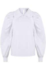 Bluse mit Kragen und Puffärmeln - MUNTHE