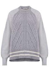 Sweatshirt mit gestricktem Vorderteil  - DOROTHEE SCHUMACHER
