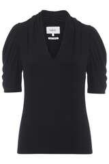 Shirt aus Modal mit Puffärmeln - BA&SH