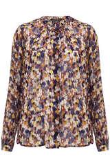 Bluse aus Viskose mit Tupfen-Print - SET
