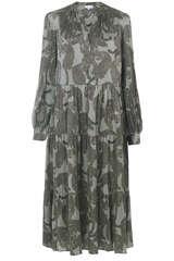 Midi-Kleid Cathrin aus Seiden-Stretch - KUDIBAL