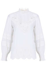 Bluse mit Broderie Anglaise  - FLOWERS FOR FRIENDS