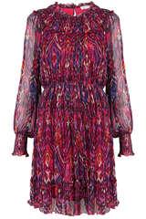 Kleid aus Viskose Chiffon  - FLOWERS FOR FRIENDS
