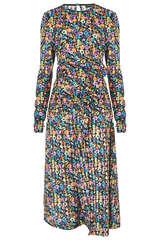 Kleid Linn mit Floral Muster - STINE GOYA