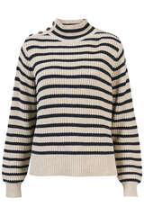 Pullover Lin mit Lurex-Streifen - MOS MOSH