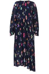 Plissiertes Kleid mit Floral Muster - STINE GOYA
