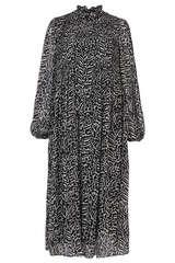 Kleid aus Chiffon mit Print - SET